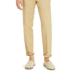 Ralph Lauren Polo Linen Tan Flat Front Pants 36x32